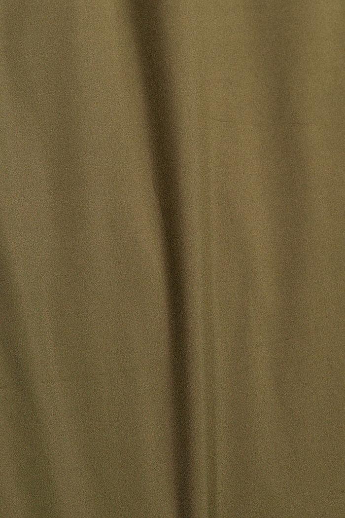 Gerecycled: jas met donzen wattering, LIGHT KHAKI, detail image number 4