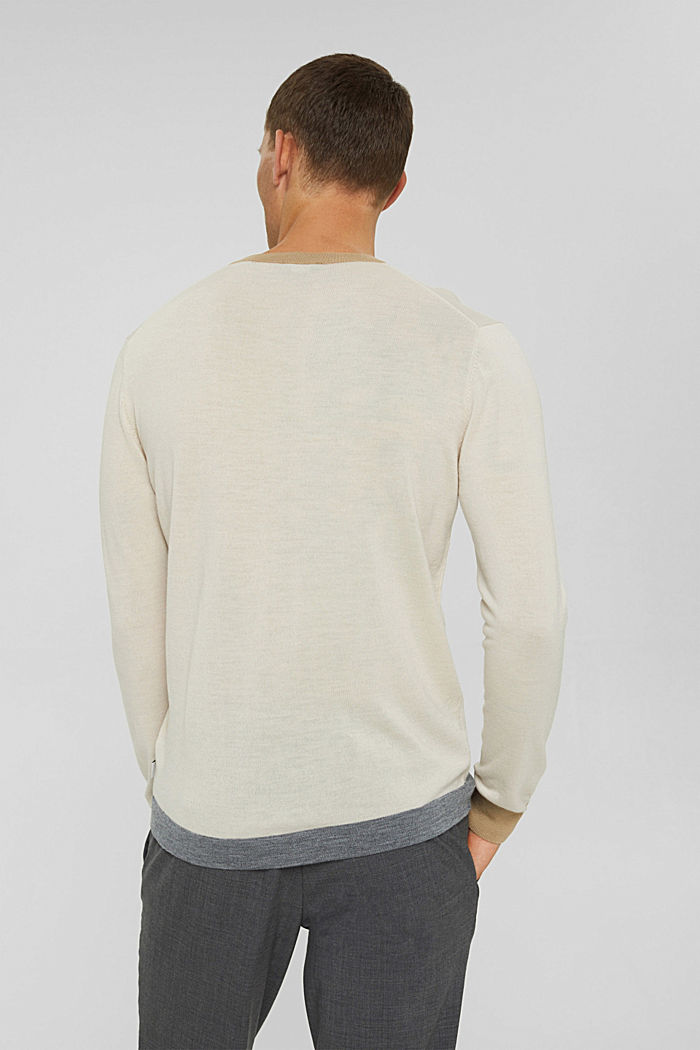 Responsible wool: Jumper made of RWS wool, LIGHT BEIGE, detail image number 3
