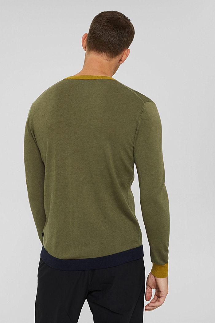 Responsible Wool: Pullover aus RWS Wolle, LIGHT KHAKI, detail image number 3