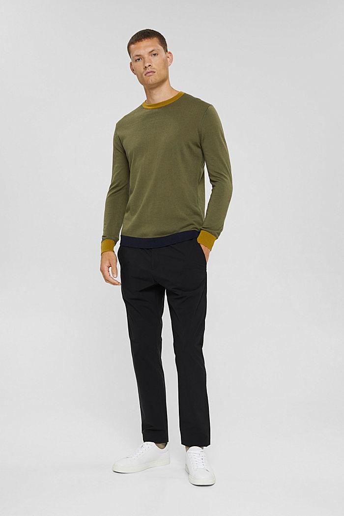Responsible Wool: Pullover aus RWS Wolle, LIGHT KHAKI, detail image number 6