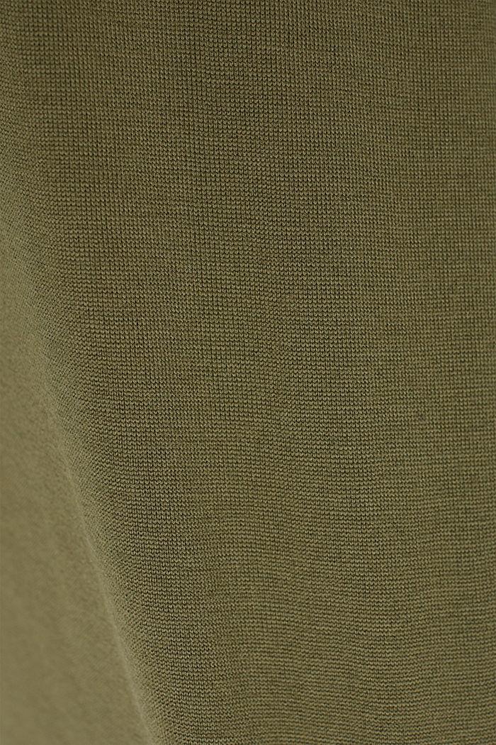 Responsible Wool: Pullover aus RWS Wolle, LIGHT KHAKI, detail image number 4