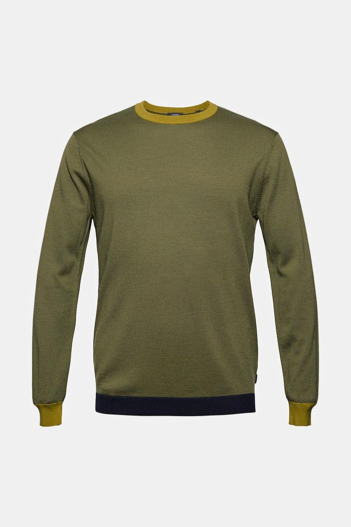 Responsible Wool: Pullover aus RWS Wolle, LIGHT KHAKI, detail image number 7