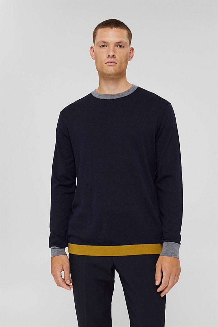 Responsible Wool: Pullover aus RWS Wolle, NAVY, detail image number 0