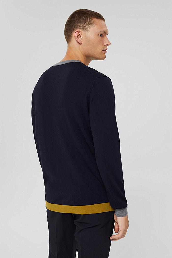 Responsible Wool: Pullover aus RWS Wolle, NAVY, detail image number 3