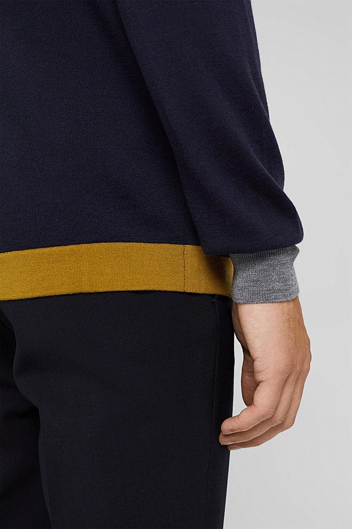 Responsible Wool: Pullover aus RWS Wolle, NAVY, detail image number 2