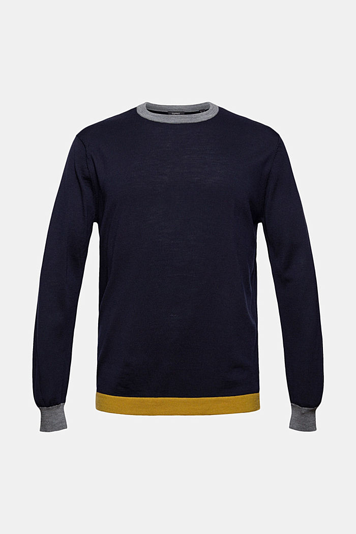 Responsible Wool: Pullover aus RWS Wolle, NAVY, detail image number 6