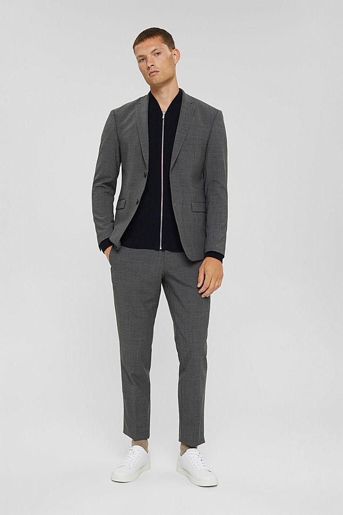 Zip cardigan made of 100% pima cotton, NAVY, detail image number 1