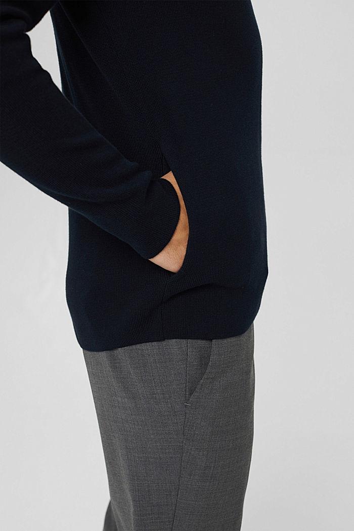 Zip cardigan made of 100% pima cotton, NAVY, detail image number 2