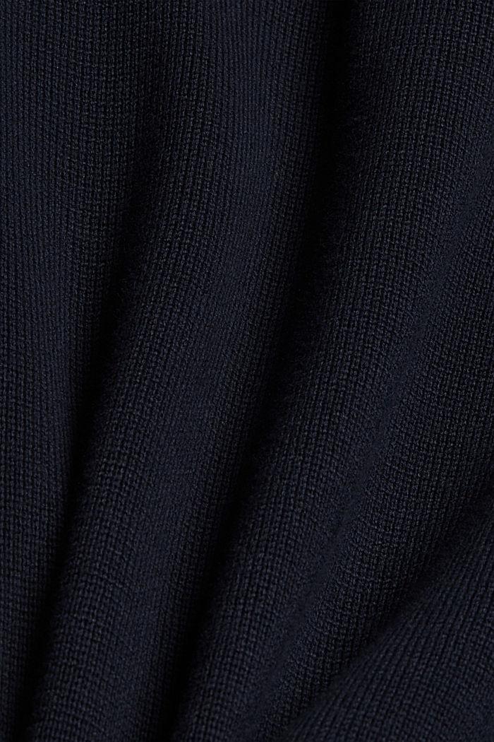 Zip cardigan made of 100% pima cotton, NAVY, detail image number 4