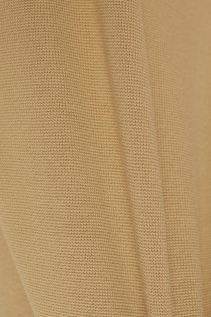Trui met knoopsluiting, 100% katoen, BEIGE, detail image number 4