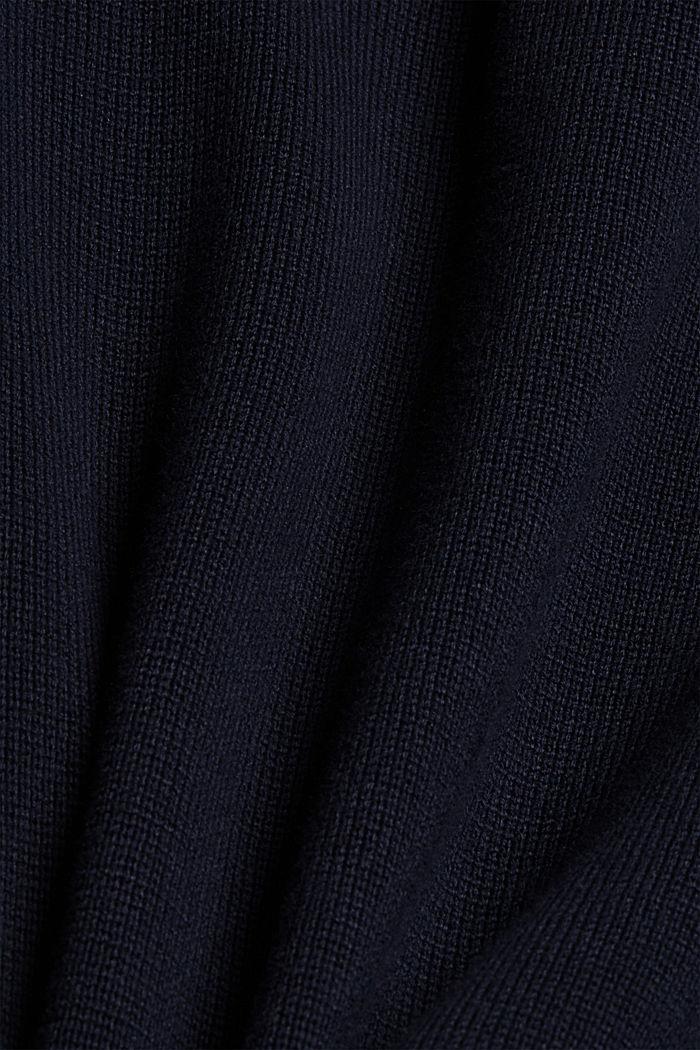 Pullover mit Knopfleiste, 100% Baumwolle, NAVY, detail image number 4