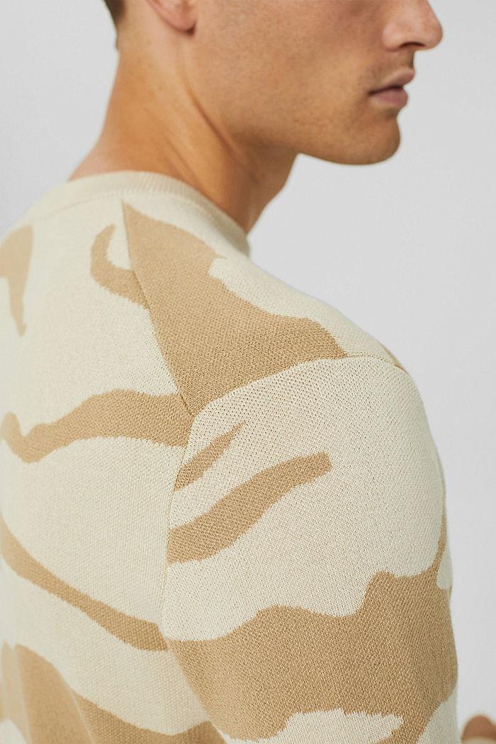 Gemusterter Pullover aus Pima-Baumwolle, LIGHT BEIGE, detail image number 2