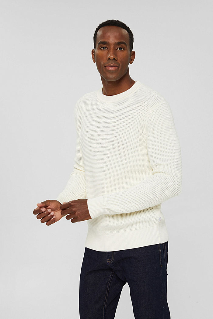 Knitted jumper in pima cotton