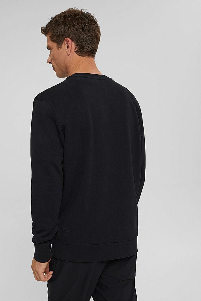 Sweat-shirt en coton mélangé à teneur en TENCEL™, BLACK, detail image number 3