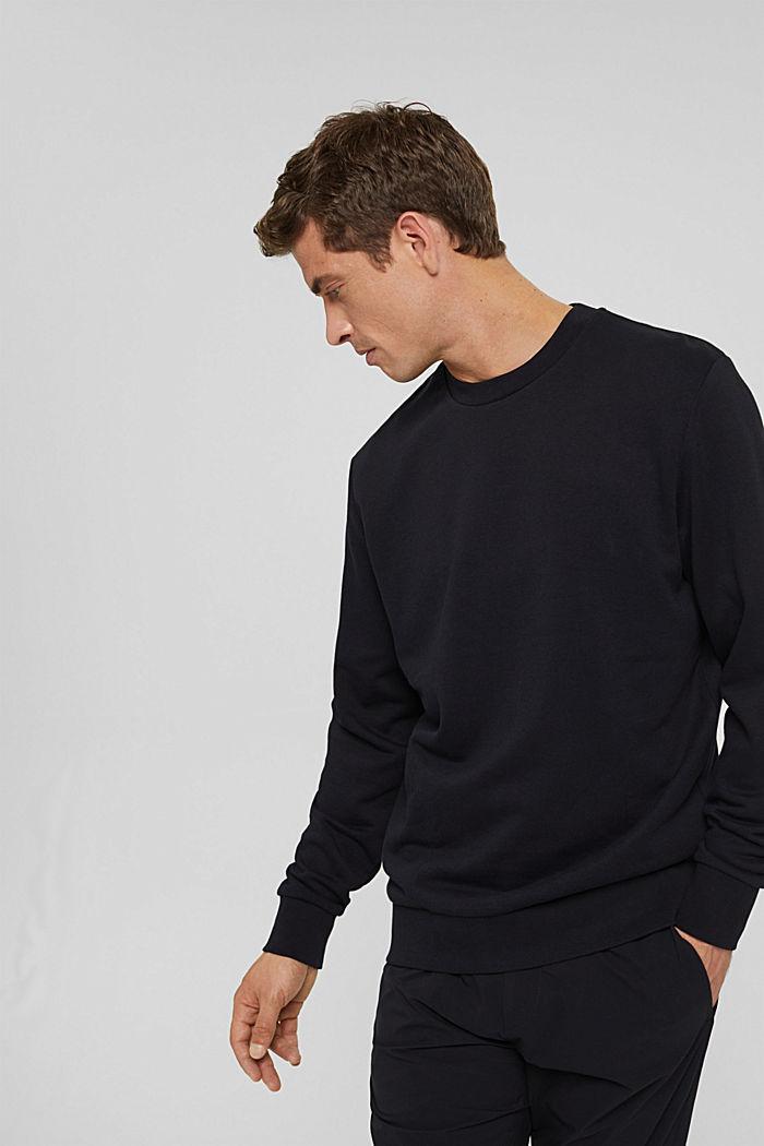 Sweat-shirt en coton mélangé à teneur en TENCEL™, BLACK, detail image number 4