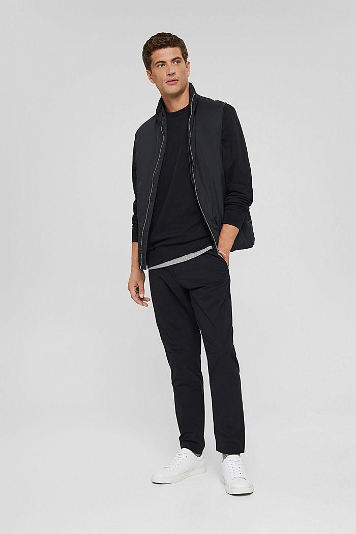 Sweat-shirt en coton mélangé à teneur en TENCEL™, BLACK, detail image number 1
