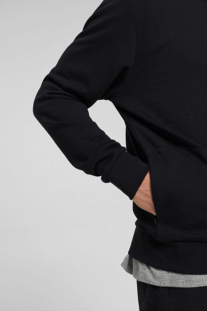 Sweat-shirt en coton mélangé à teneur en TENCEL™, BLACK, detail image number 2