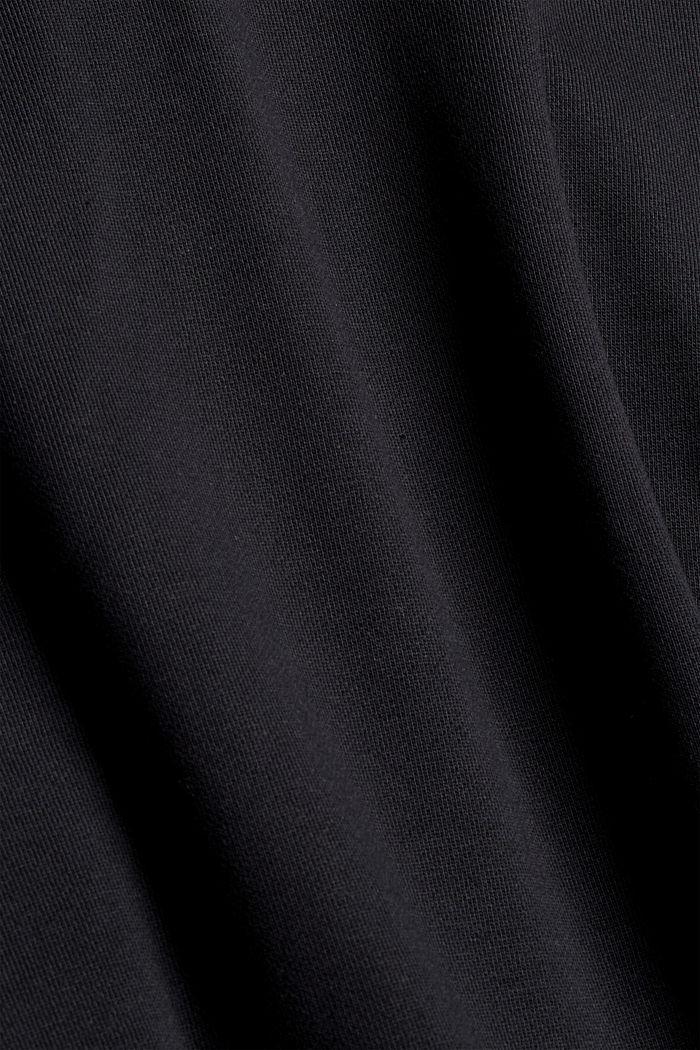 Sweat-shirt en coton mélangé à teneur en TENCEL™, BLACK, detail image number 5