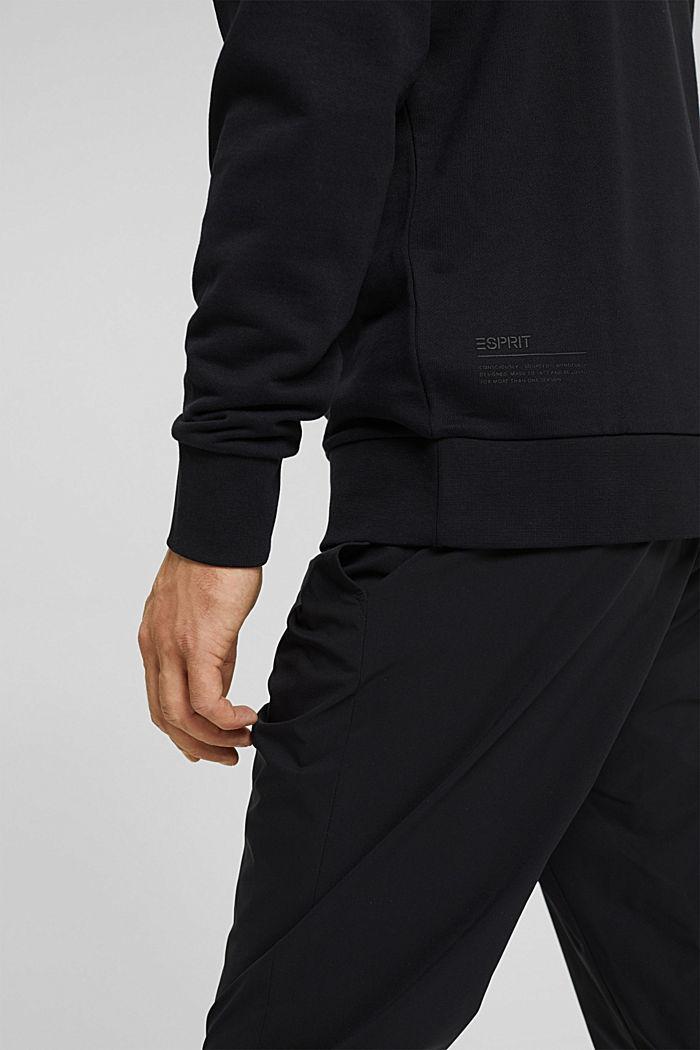 Sweat-shirt en coton mélangé à teneur en TENCEL™, BLACK, detail image number 7