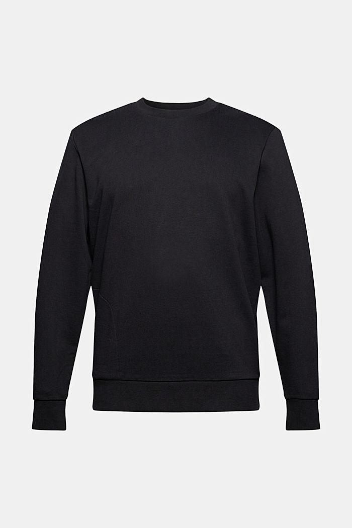 Sweat-shirt en coton mélangé à teneur en TENCEL™, BLACK, detail image number 8