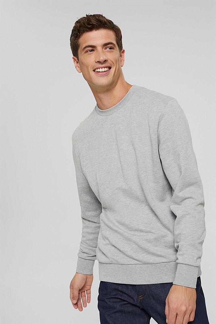 Sweatshirt van een katoenmix met TENCEL™, LIGHT GREY, detail image number 0