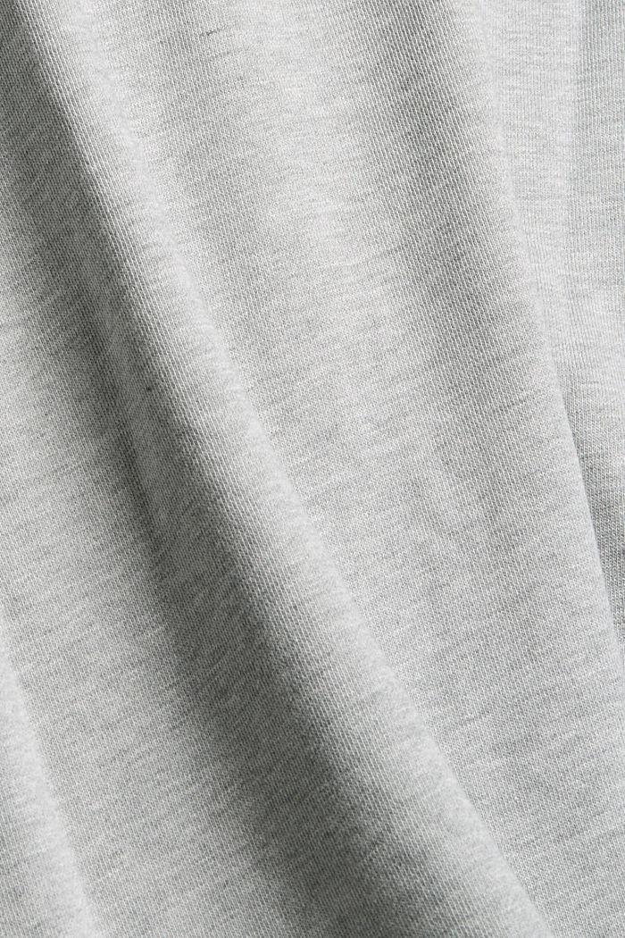 Sweatshirt van een katoenmix met TENCEL™, LIGHT GREY, detail image number 4