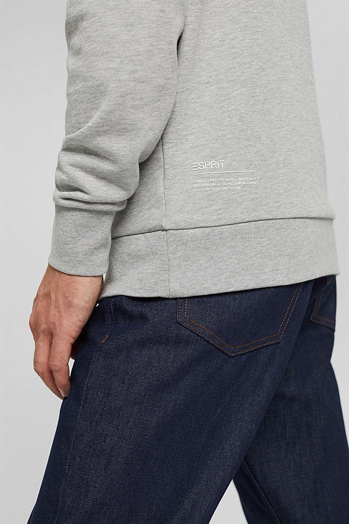 Sweatshirt van een katoenmix met TENCEL™, LIGHT GREY, detail image number 6
