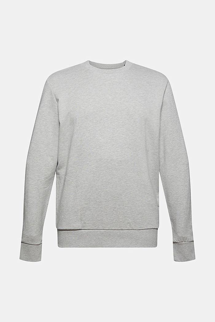Sweatshirt van een katoenmix met TENCEL™, LIGHT GREY, detail image number 7