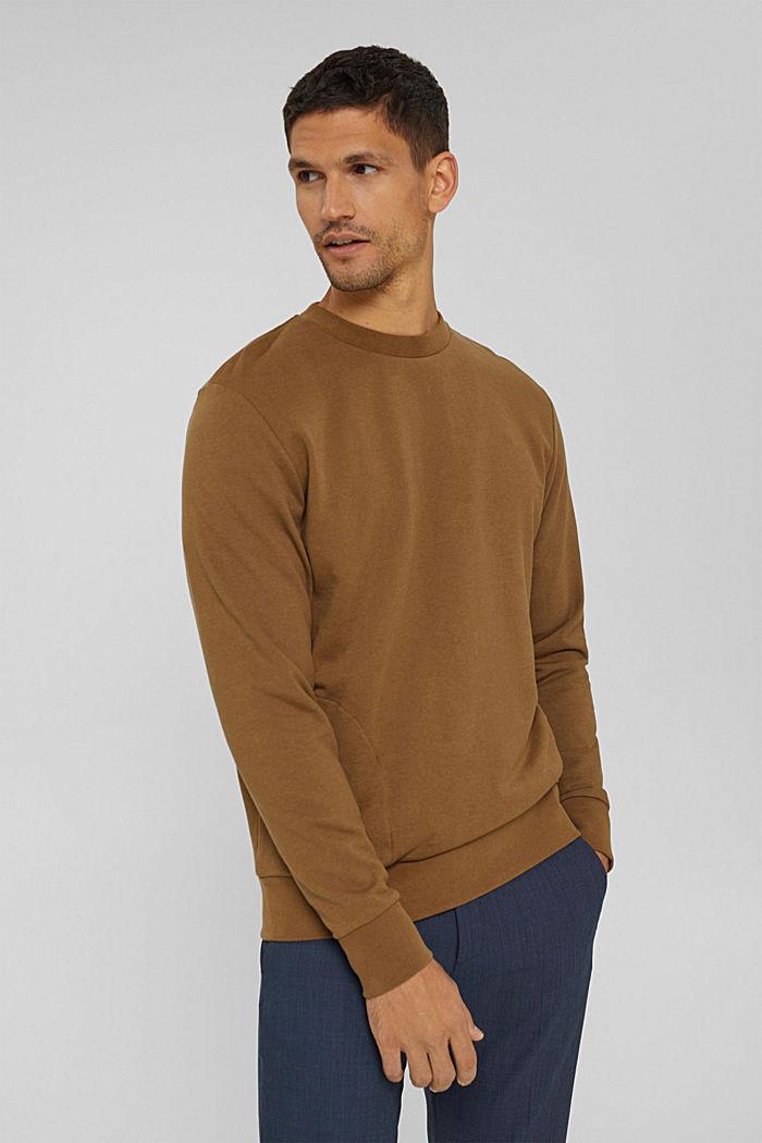 Sweat-shirt en coton mélangé à teneur en TENCEL™, BARK, detail image number 0