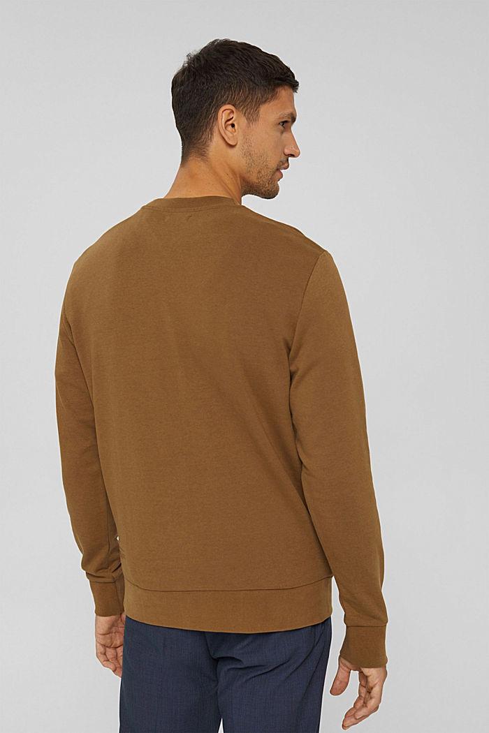 Sweat-shirt en coton mélangé à teneur en TENCEL™, BARK, detail image number 3