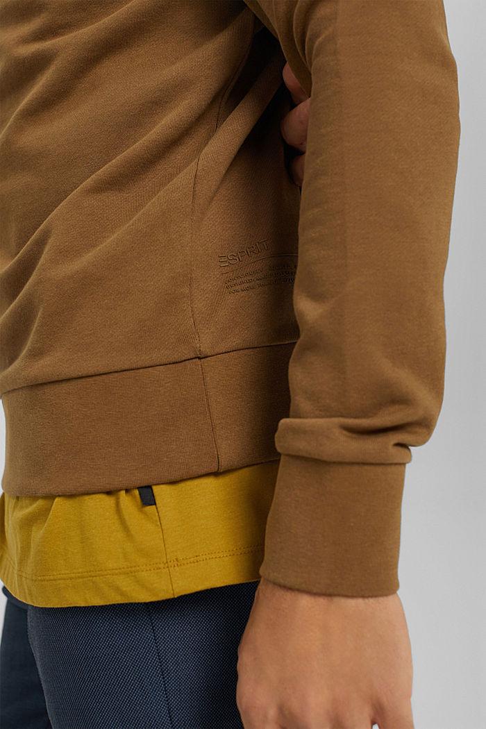 Sweat-shirt en coton mélangé à teneur en TENCEL™, BARK, detail image number 2