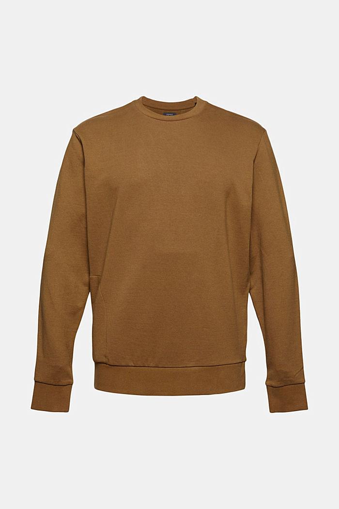 Sweat-shirt en coton mélangé à teneur en TENCEL™, BARK, detail image number 7
