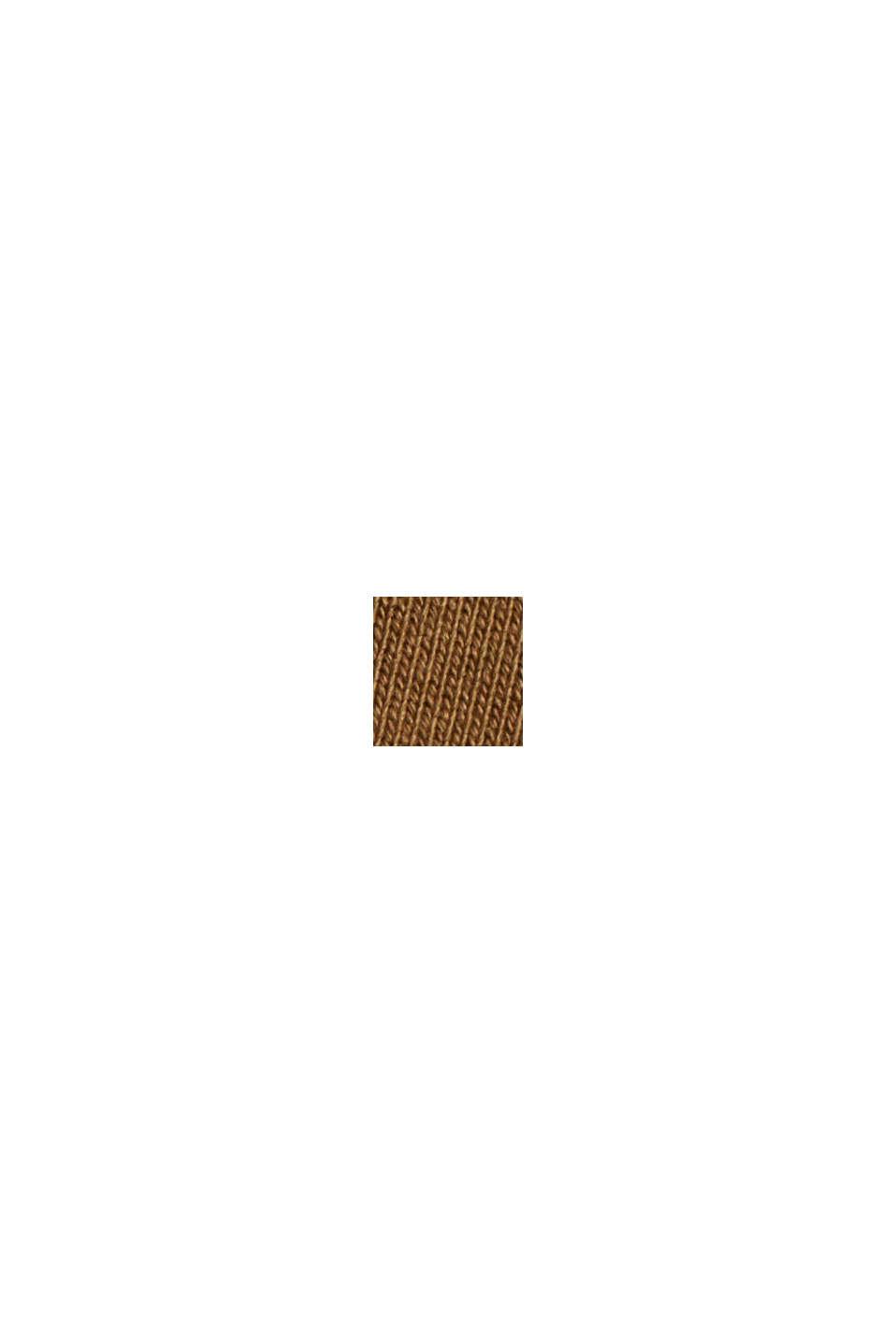Bluza dresowa z mieszanki bawełnianej z TENCELEM™, BARK, swatch