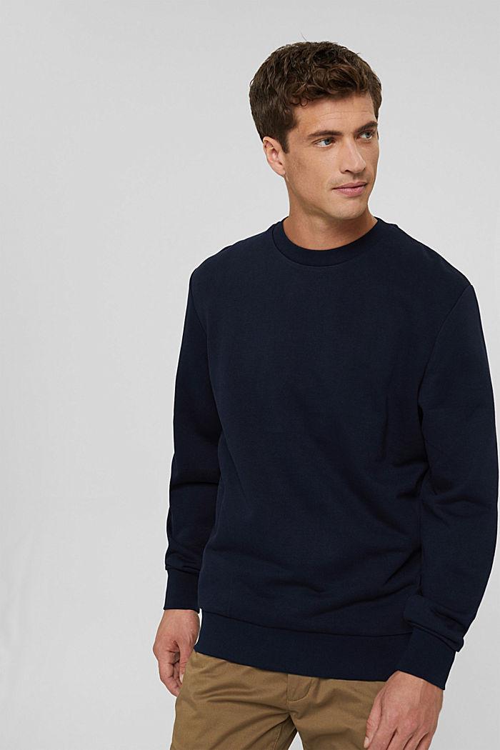 Sweatshirt van een katoenmix met TENCEL™, NAVY, detail image number 0