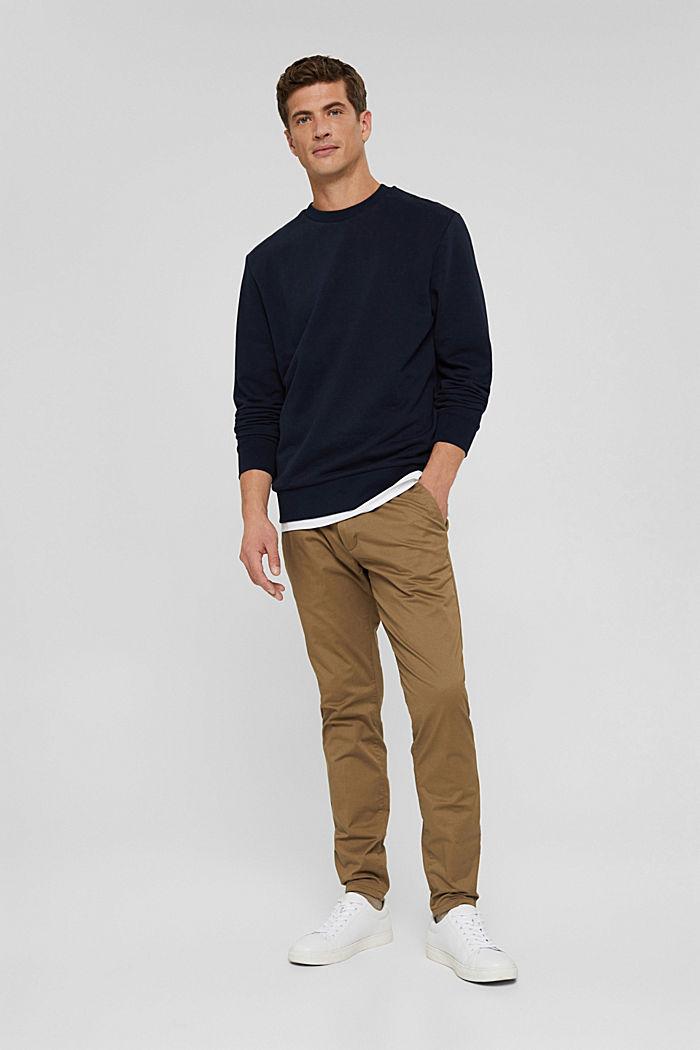 Sweatshirt van een katoenmix met TENCEL™, NAVY, detail image number 7