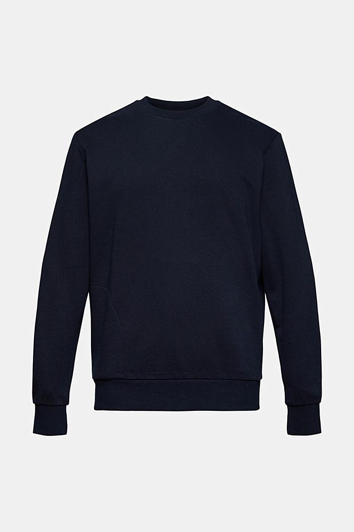 Sweatshirt van een katoenmix met TENCEL™, NAVY, detail image number 6