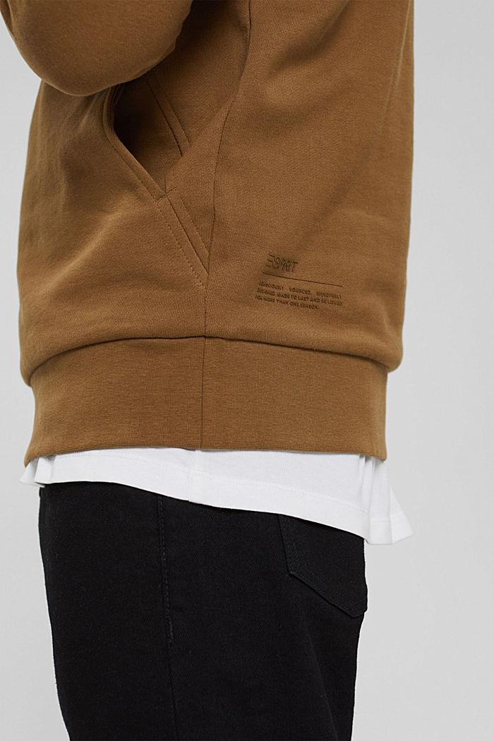 Sweat à capuche en coton mélangé à teneur en TENCEL™, BARK, detail image number 2