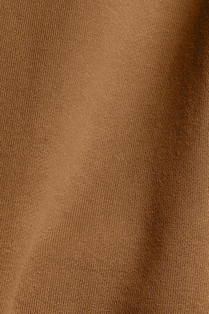 Sweat à capuche en coton mélangé à teneur en TENCEL™, BARK, detail image number 4