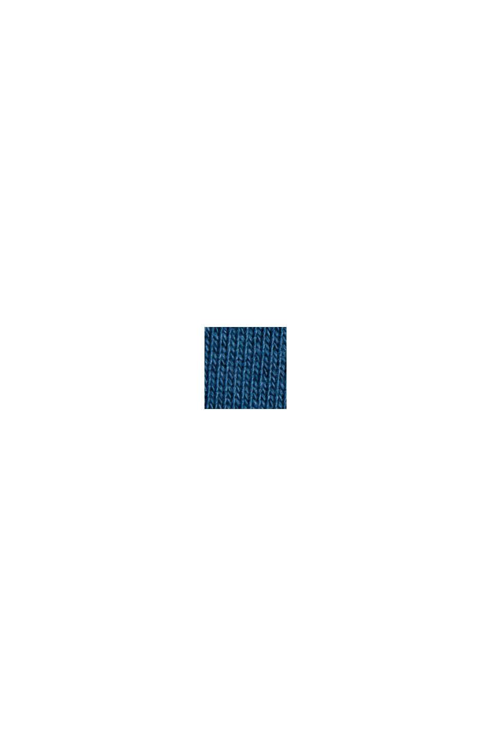 Sweat à capuche en coton mélangé à teneur en TENCEL™, PETROL BLUE, swatch