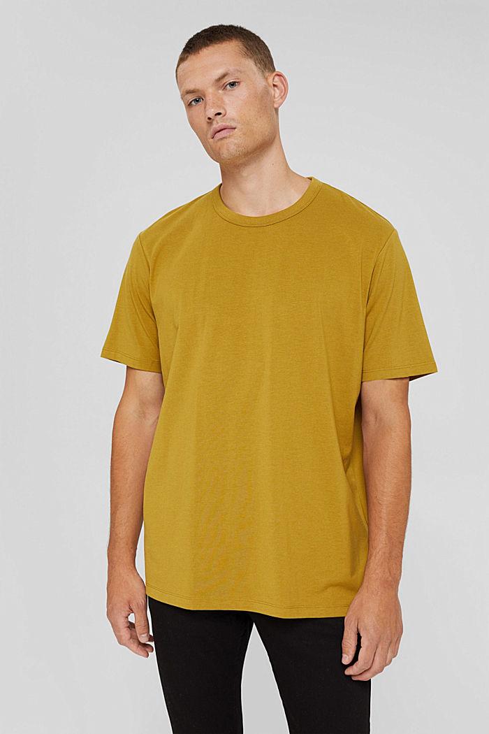 Jersey-T-shirt med COOLMAX®, ekologisk bomull