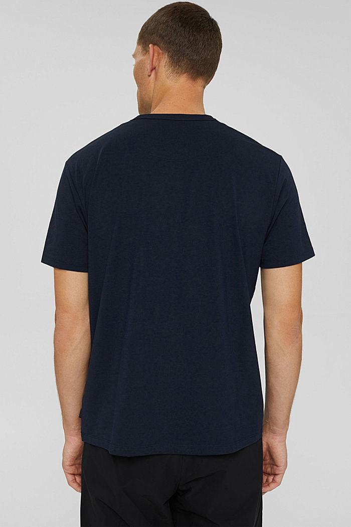 Jersey T-shirt met COOLMAX®, biologisch katoen, NAVY, detail image number 3