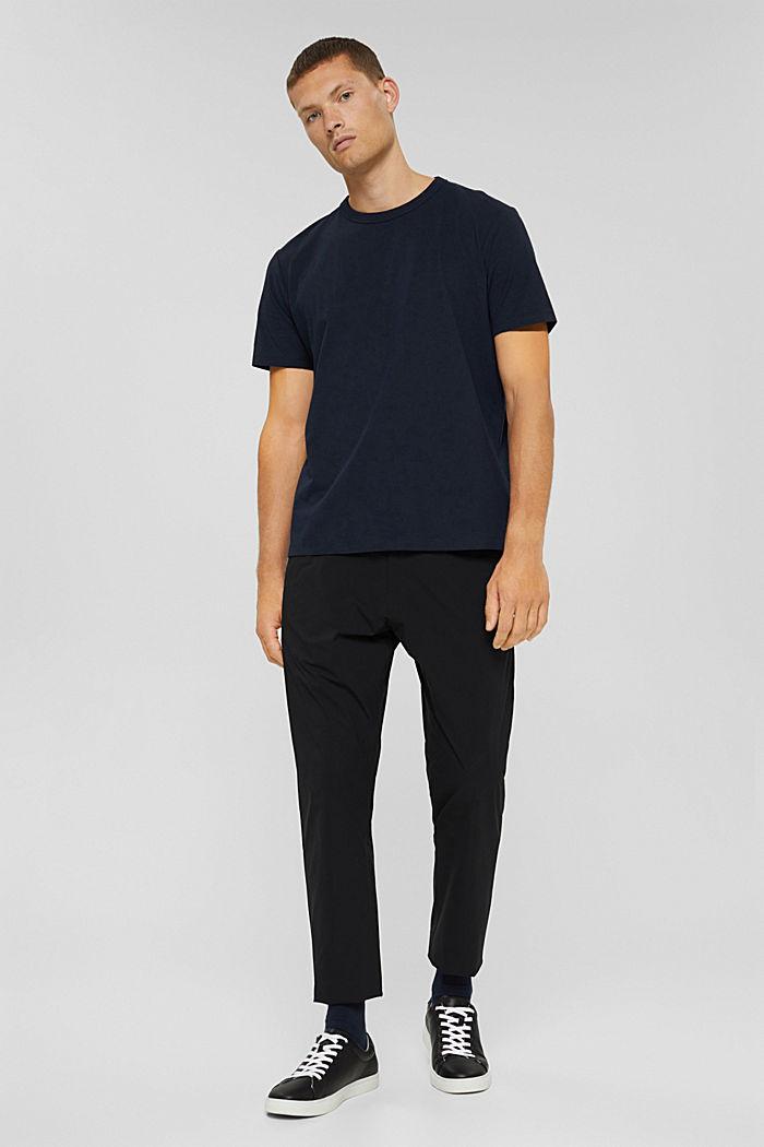 Jersey T-shirt met COOLMAX®, biologisch katoen, NAVY, detail image number 5