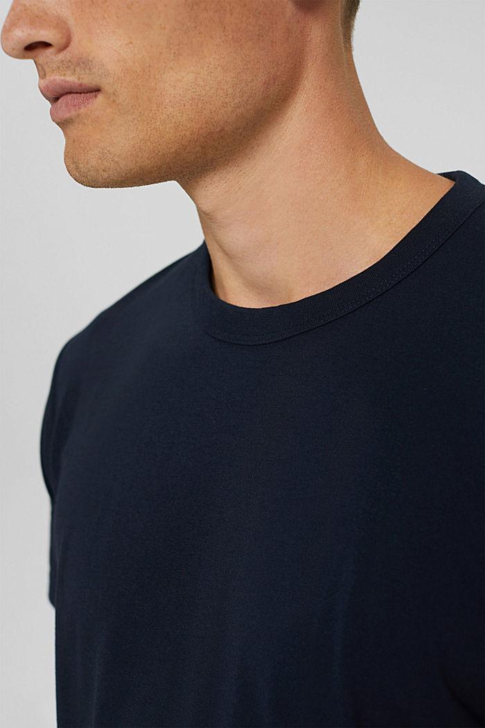Jersey T-shirt met COOLMAX®, biologisch katoen, NAVY, detail image number 1