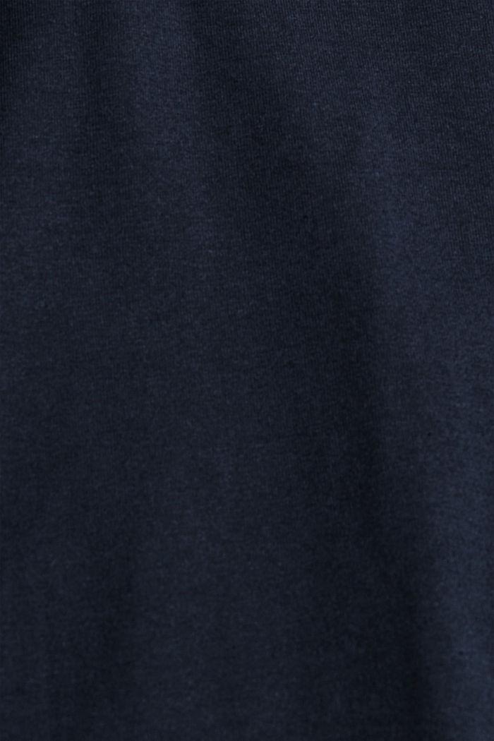 Jersey T-shirt met COOLMAX®, biologisch katoen, NAVY, detail image number 4