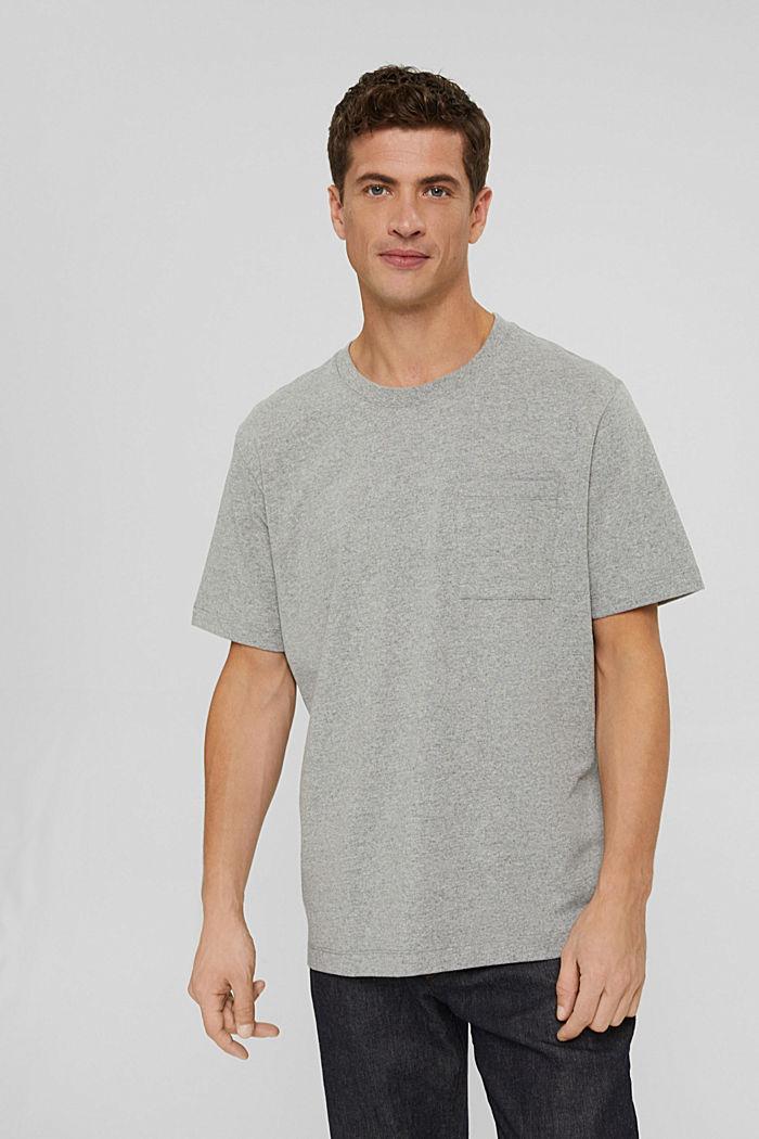 Jersey T-shirt with a pocket, organic cotton, MEDIUM GREY, detail image number 0