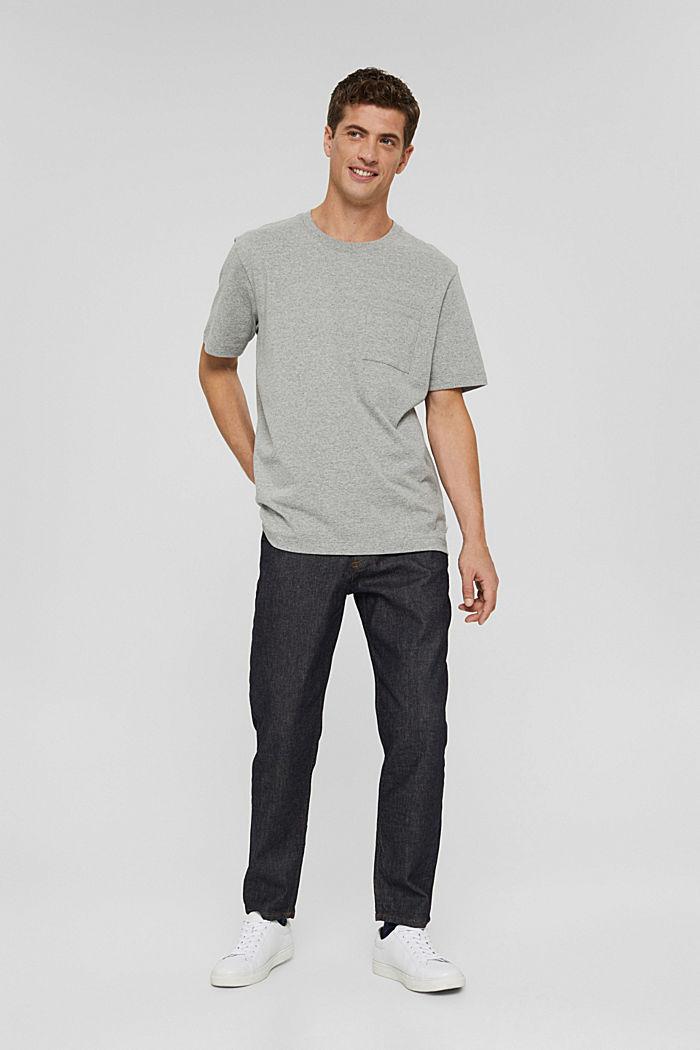 Jersey T-shirt with a pocket, organic cotton, MEDIUM GREY, detail image number 5