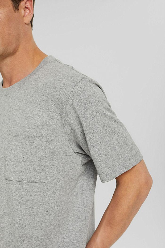 Jersey T-shirt with a pocket, organic cotton, MEDIUM GREY, detail image number 1