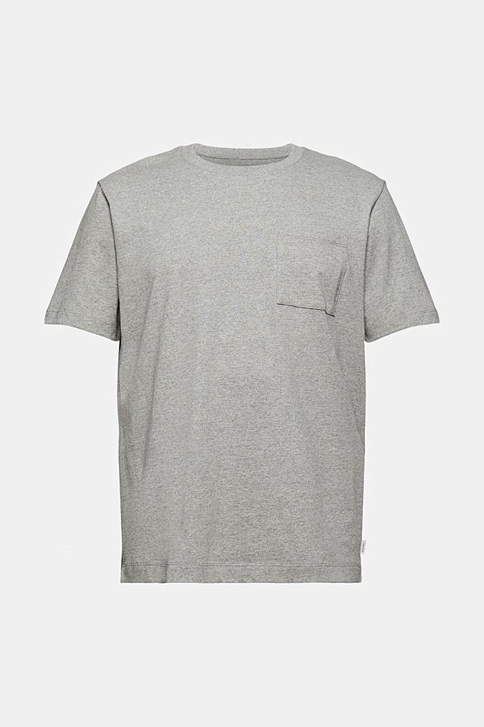 Jersey T-shirt with a pocket, organic cotton, MEDIUM GREY, detail image number 6