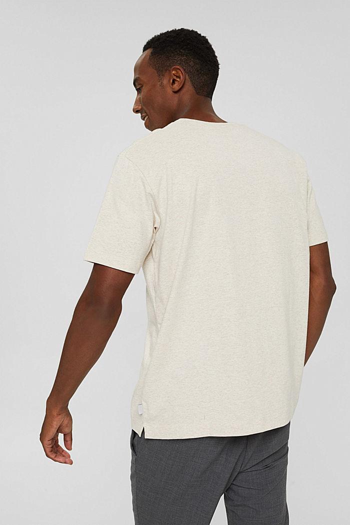 Haut en jersey doté d'une poche, coton biologique, LIGHT BEIGE, detail image number 3