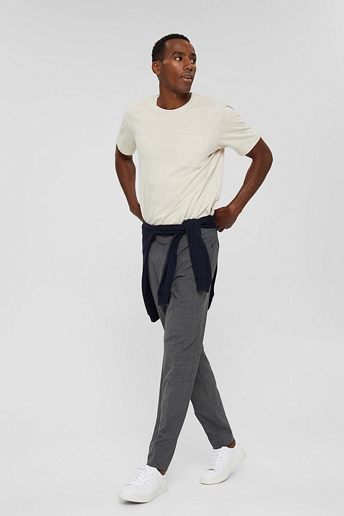 Haut en jersey doté d'une poche, coton biologique, LIGHT BEIGE, detail image number 2